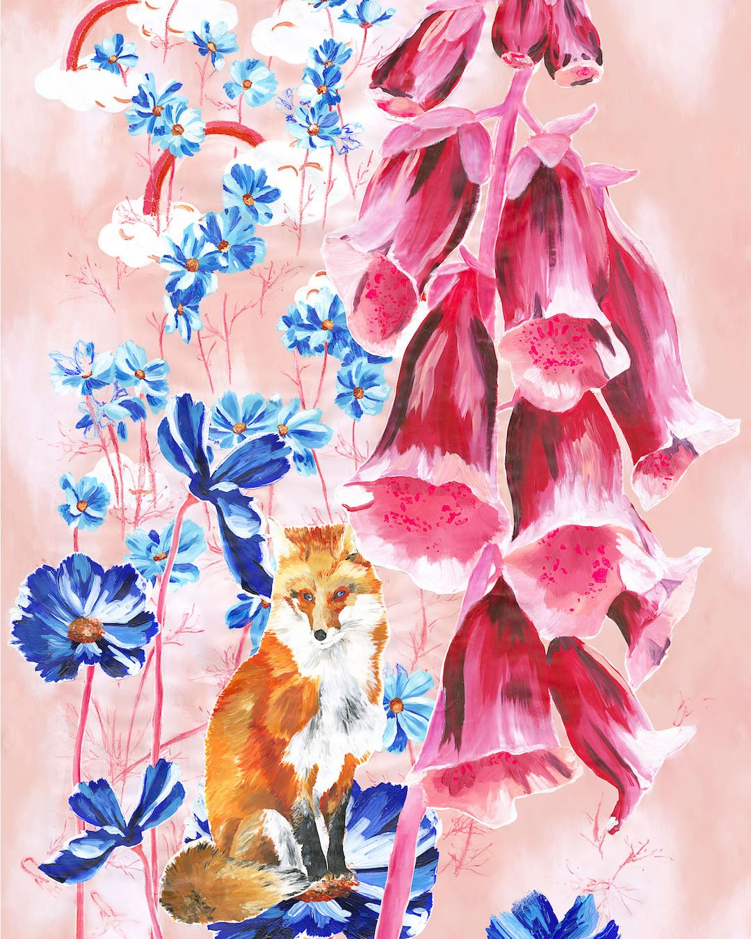 Enchanted Garden Fox Painting