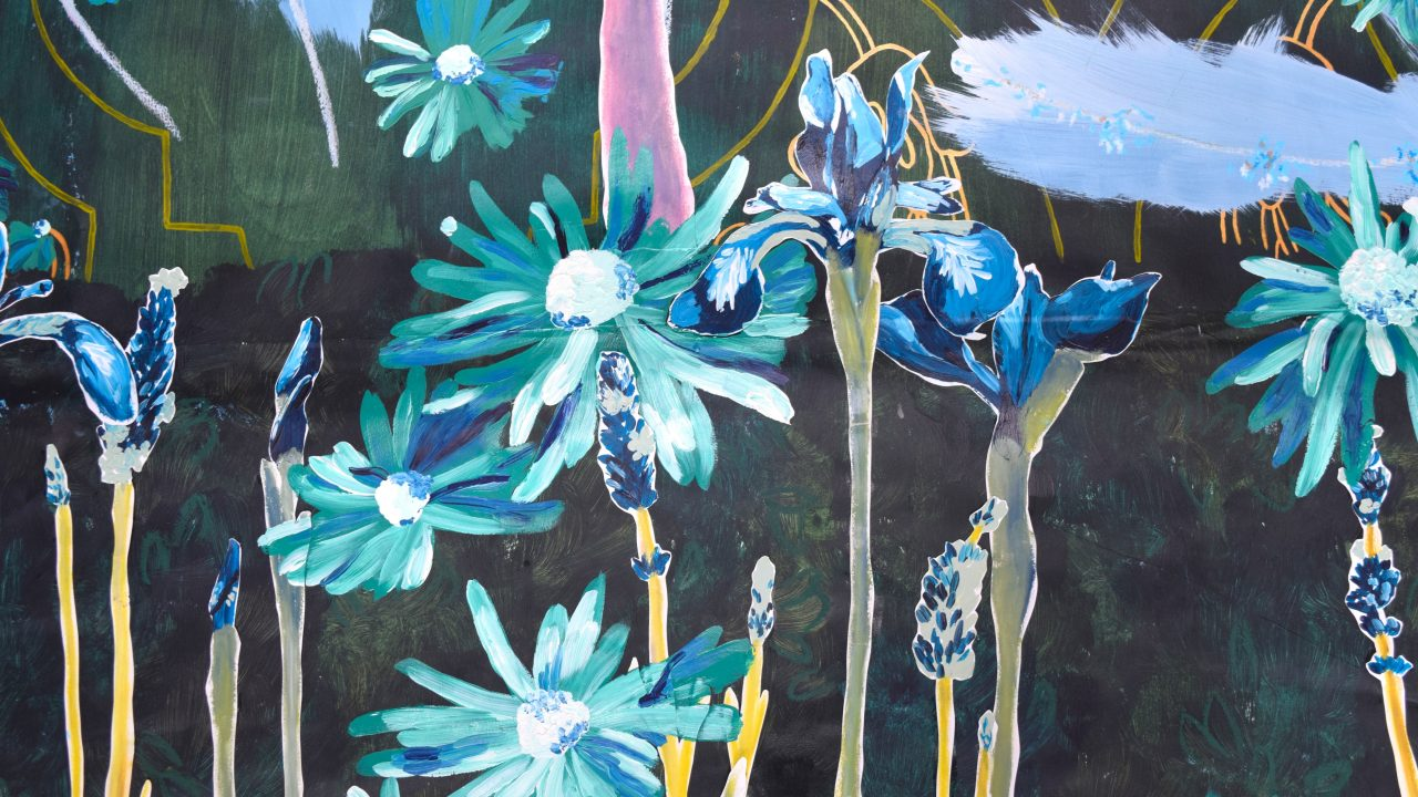 Into The Graden Formal Garden Painting 01