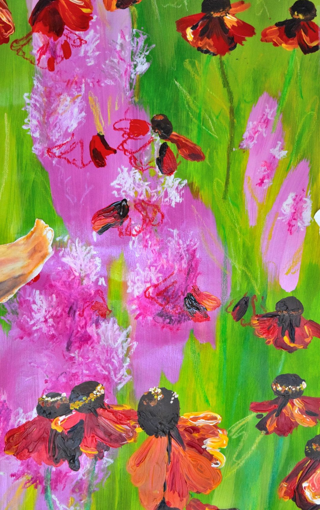 Into The Graden Meadow Painting 02