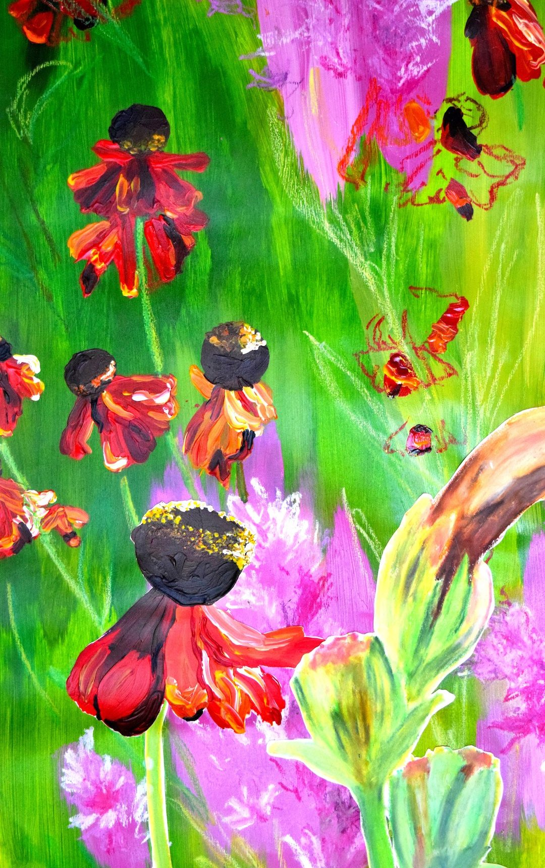 Into The Graden Meadow Painting 03